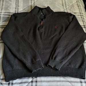 XL Polo 1/4 zip pull over sweater